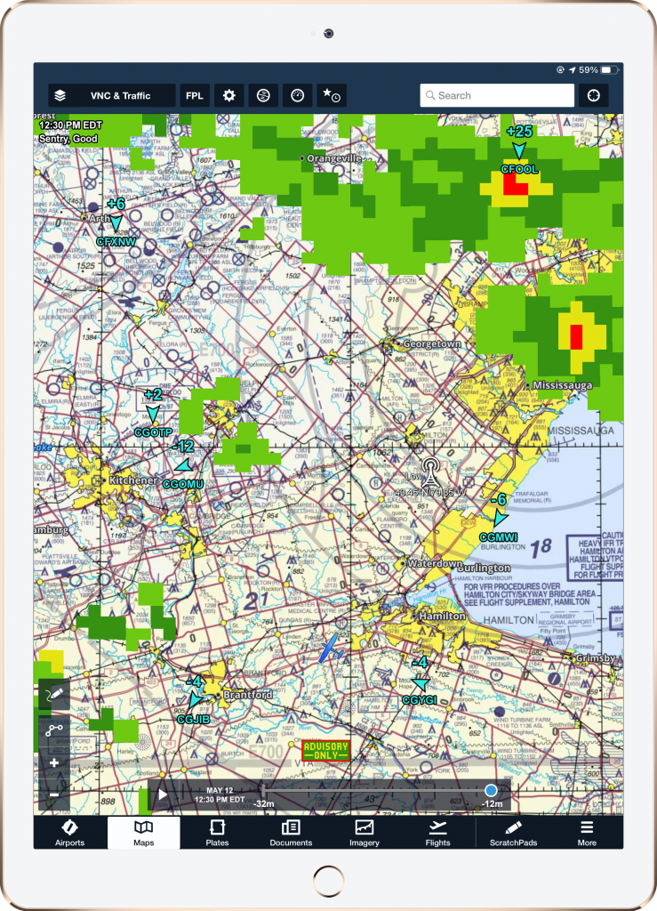 Radar and traffic in southern Ontario